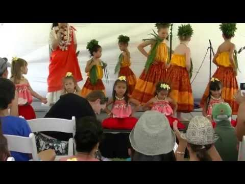 Hawaii Book & Music Festival 2015 Keiki Hula Performance. at Honolulu Hale