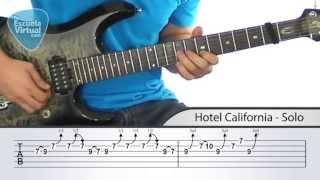 Solo de Hotel California + TAB - Tu Escuela Virtual
