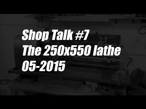 Shoptalk #7 / 9x20 lathe / 05-2015