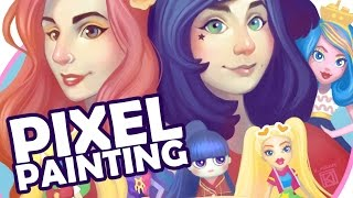 Pixel Painting: The Doll Circle Fan Art Logo Digital Illustration