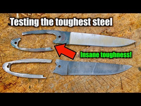 What Is THE TOUGHEST KNIFE STEEL? Testing knife steel.