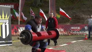 Savickas does 500lbs (227kg) in Log Press for World Record - new cam angle