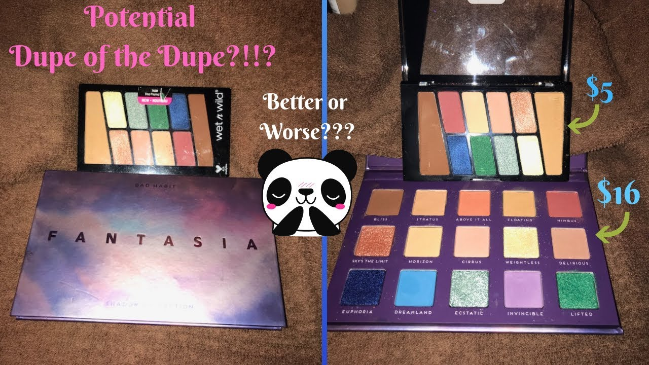 Dupe Of Dupe New Wet N Wild Stop Playing Safe Palette Vs Bad Habit Fantasia Chelis Beauty Corner Youtube