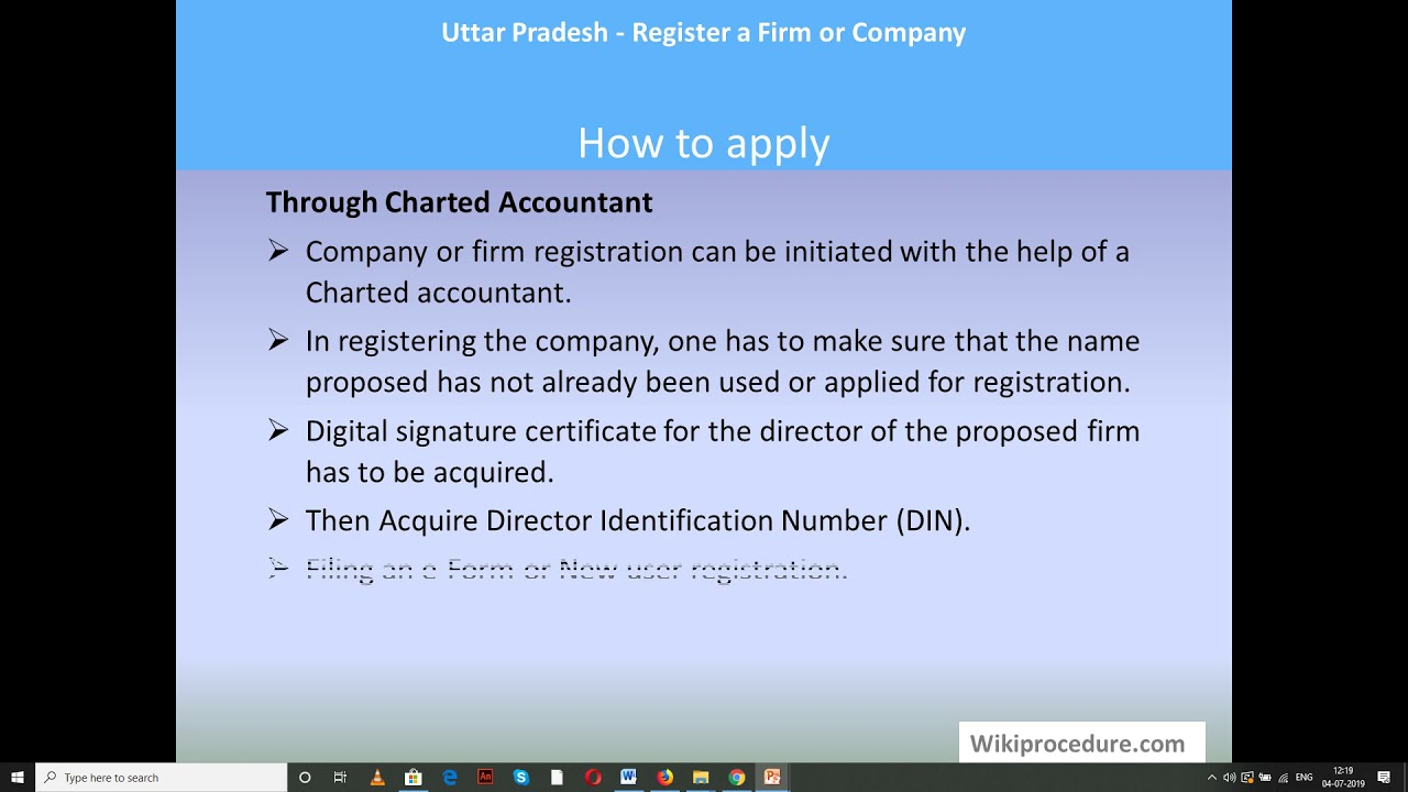 Bareilly - Register a Firm or Company