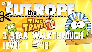 Perfect Cuts! Cut the Rope Time Travel 3-star Walkthrough