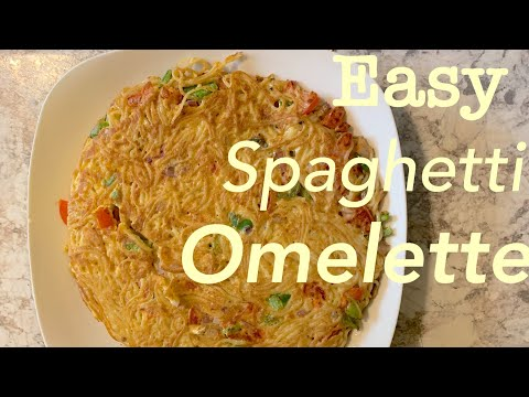 Spaghetti Omelette in 15minutes