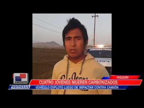 CUATRO JOVENES MUEREN CARBONIZADOS EN PUERTO MALABRIGO