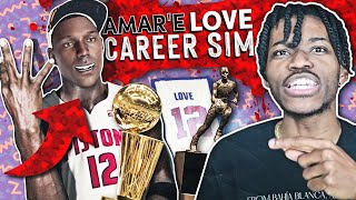 AMAR'E LOVE FULL CAREER SIMULATION IN NBA 2K21 *THE NEXT GOAT*