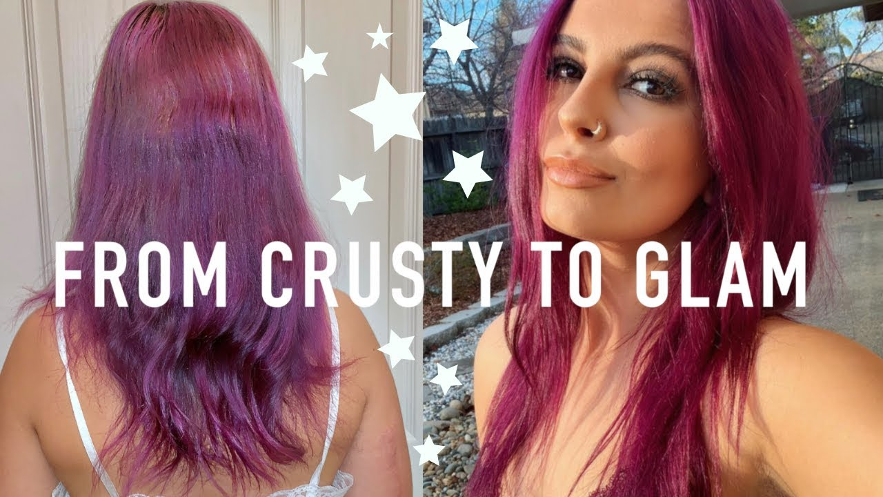 HOW TO COLOR CORRECT YOUR HAIR AT HOME USING ION COLOR BRILLIANCE CORRECTOR  (DYING MY HAIR PURPLE)