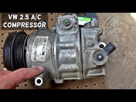 VW GOLF JETTA BEETLE 25 AC COMPRESSOR A/C REMOVAL REPLACEMENT - YouTube