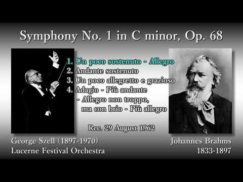 Brahms: Symphony No. 1, Szell & LucerneFO (1962) ブラームス 交響曲第1番 セル