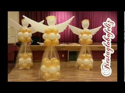 Como hacer un ngel grande con globos paso a paso youtube - Hacer decoraciones con globos ...