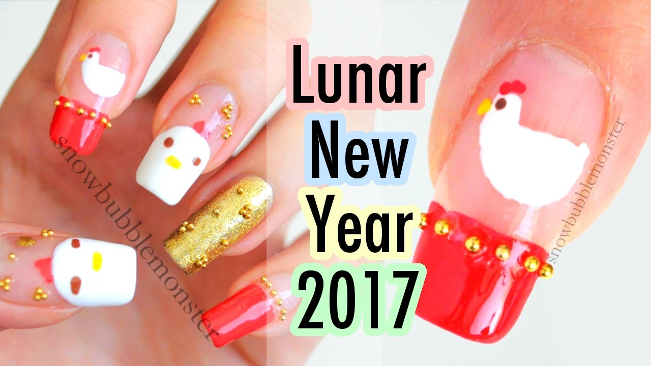 2017 lunar new year nail art cute and easy snowbubblemonster 2017 lunar new year nail art cute and easy snowbubblemonster prinsesfo Gallery