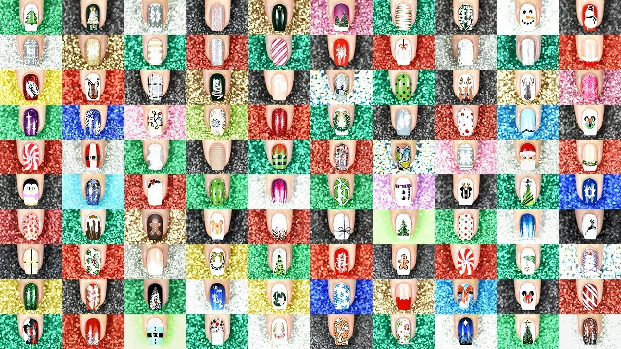 Download The BIGGEST Christmas Nail Art Compilation EVER || 100 Designs!!