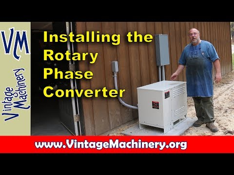 Electrical Work: Wiring for my American Rotary Phase Converter