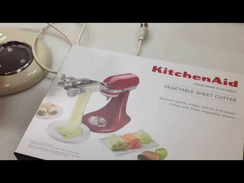 Product Review / Kitchen Aid Mixer Attachment / Vegetable Sheet Cutter, Awesome!