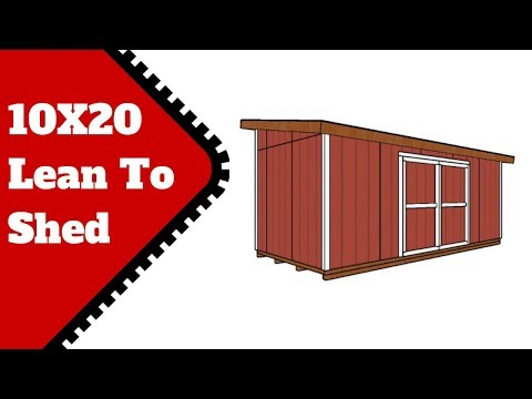 10x20 Lean to Shed Plans
