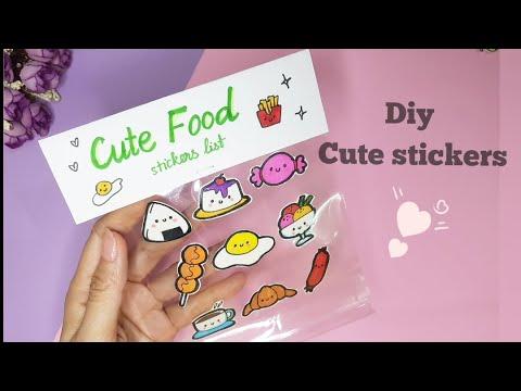Tự làm sticker | How to make cute stickers| Diy paper Sticker| Stickers | home made Sticker