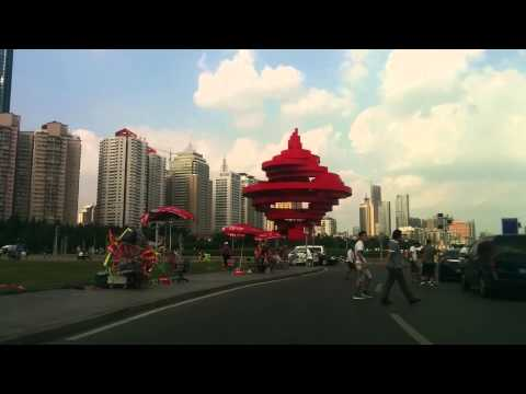 Driving through Qingdao