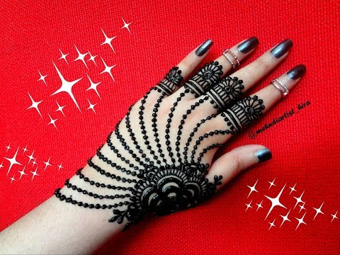 Most Famous,easy And Beautiful Arabic Jewellery Henna Mehndi Design For Hands For Diwali,eid,wedding