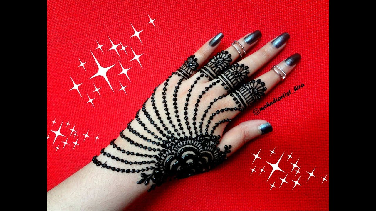 Most Famous Easy And Beautiful Arabic Jewellery Henna Mehndi Design