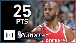 Chris Paul Full Game 4 Highlights Rockets vs Timberwolves 2018 Playoffs - 25 Pts, 6 Reb, 6 Assists