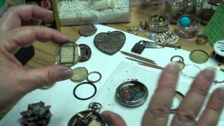 Mixing, Pouring and Creating Altered Art Bezels With ICE Resin