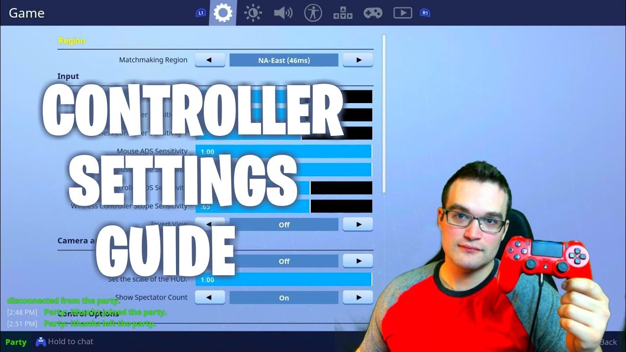 updated controller settings guide ps4 pro best controller scheme - fortnite ps4 pro controller settings