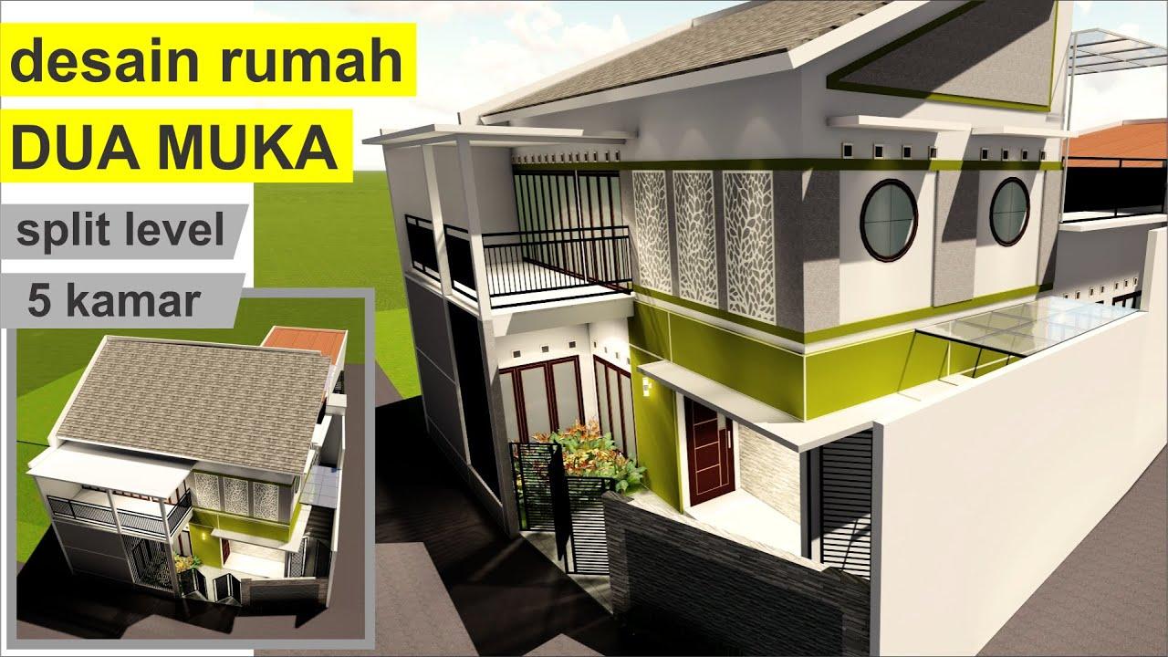 Desain Rumah 2 Lantai 5 Kamar Konsep Dua Muka Di Tanah Hook Project 40 Youtube