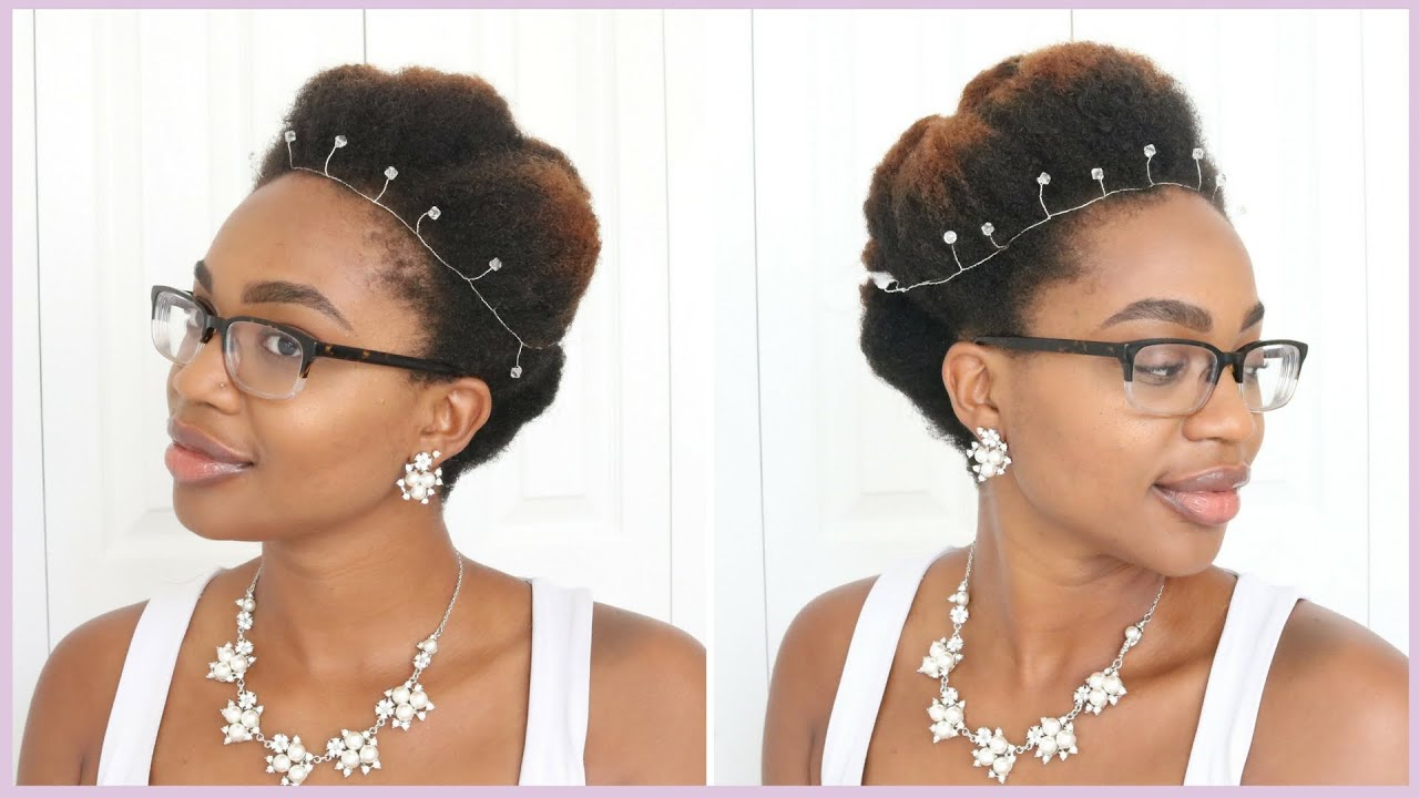 Roll, Tuck, & Pin on Natural Hair | Wedding Hair Series - YouTube