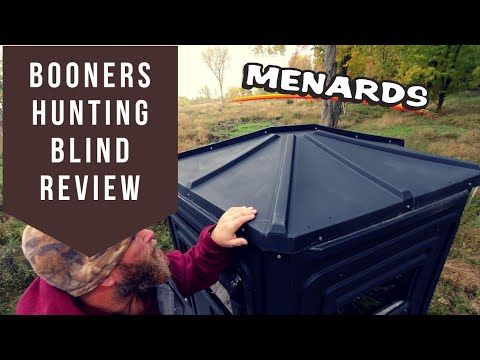 Menards Booner Deer Hunting Box Blind Review! Michigan Hunting! LP Deer Camp