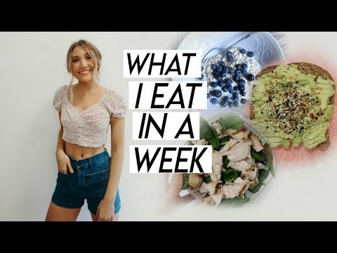 WHAT I EAT IN A WEEK WORKING 9-5 | a healthy week of eating! thumbnail