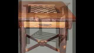 Hickory & Birch Bark Rustic Tables From Adirondack Rustic Designs