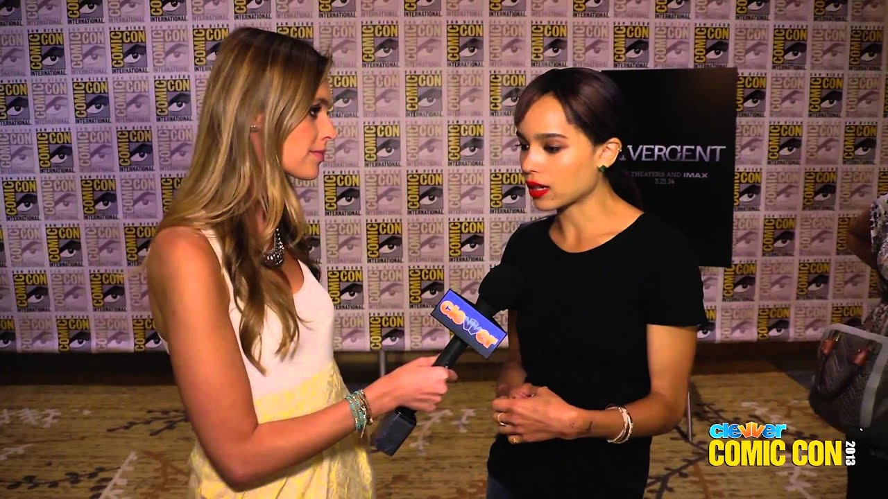 Zoe Kravitz Talks DIVERGENT Train Jumping Scenes & Tattoos  2013 Comic Con