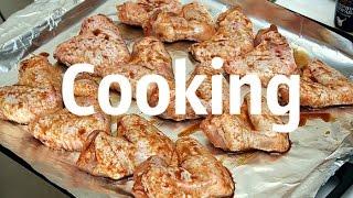 Cooking||Куриные крылышки в сливочно-грибном соусе