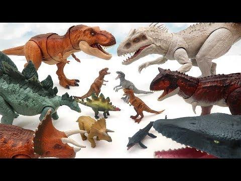 Jurassic World Dinosaur Transformer Big To Small! Dinosaur Toys For Kids 공룡 쥬라기 망치 마법