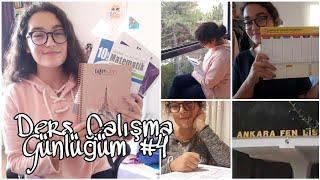 DERS ÇALIŞMA GÜNLÜĞÜM #4 || Ankara Fen Lisesi , Yeni Planlayıcım ,Benimle Bir Hafta 🌻