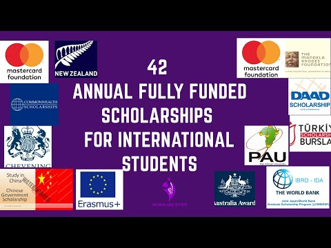 42 ANNUAL FULLY FUNDED SCHOLARSHIPS FOR INTERNATIONAL STUDENTS | HOW TO WIN SCHOLARSHIPS | 2020