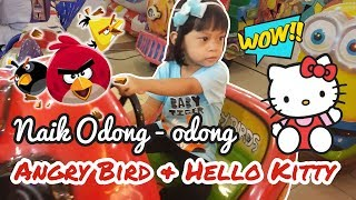 Anak kecil naik odong odong Angry Bird dan Hello Kitty di Mall Season City