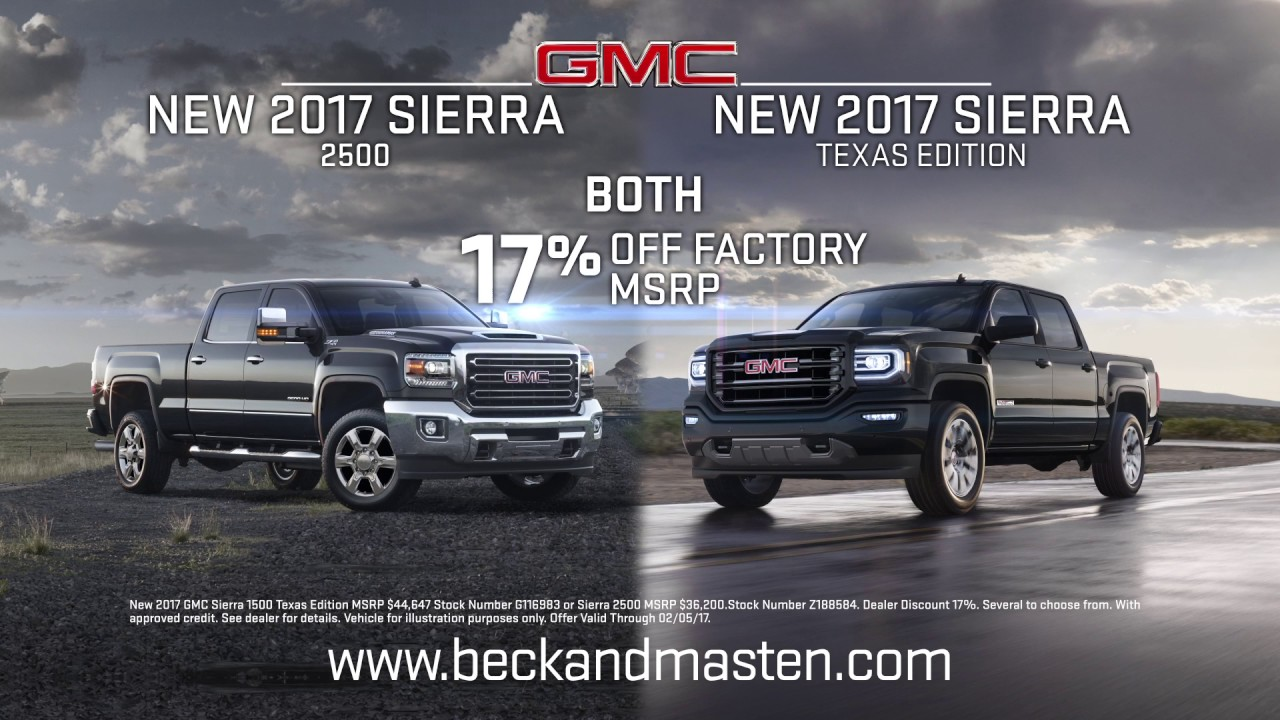 Beck Masten North   2017 Sierra 2500   2017 Sierra Texas Edition     Beck Masten North   2017 Sierra 2500   2017 Sierra Texas Edition