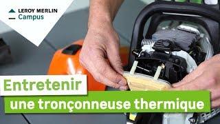 Comment entretenir une tronçonneuse thermique ? | Leroy Merlin