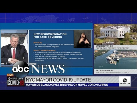 NYC mayor advises New Yorkers to wear face coverings