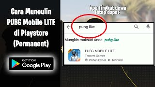 Cara Memunculkan PUBG Mobile LITE di Playstore (Permanent) screenshot 3