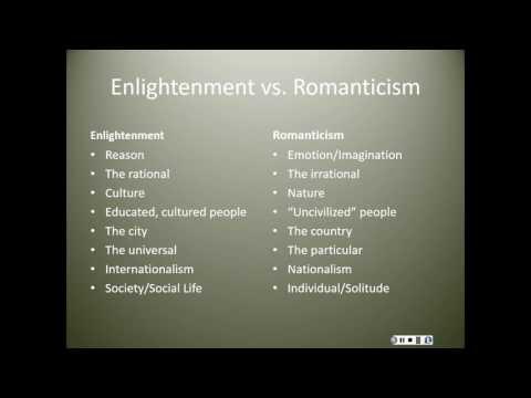 Enlightenment to Romanticism