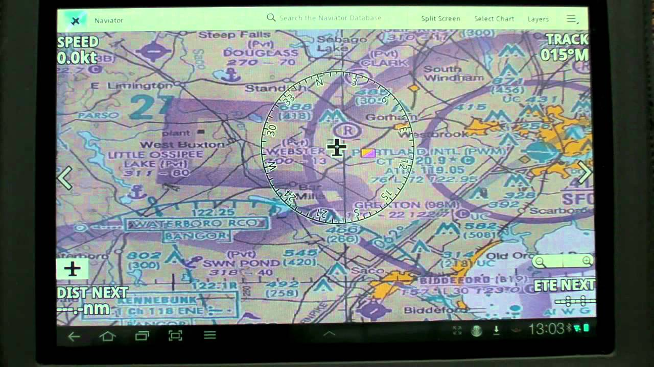 Moving Map Apps for Android Tablets