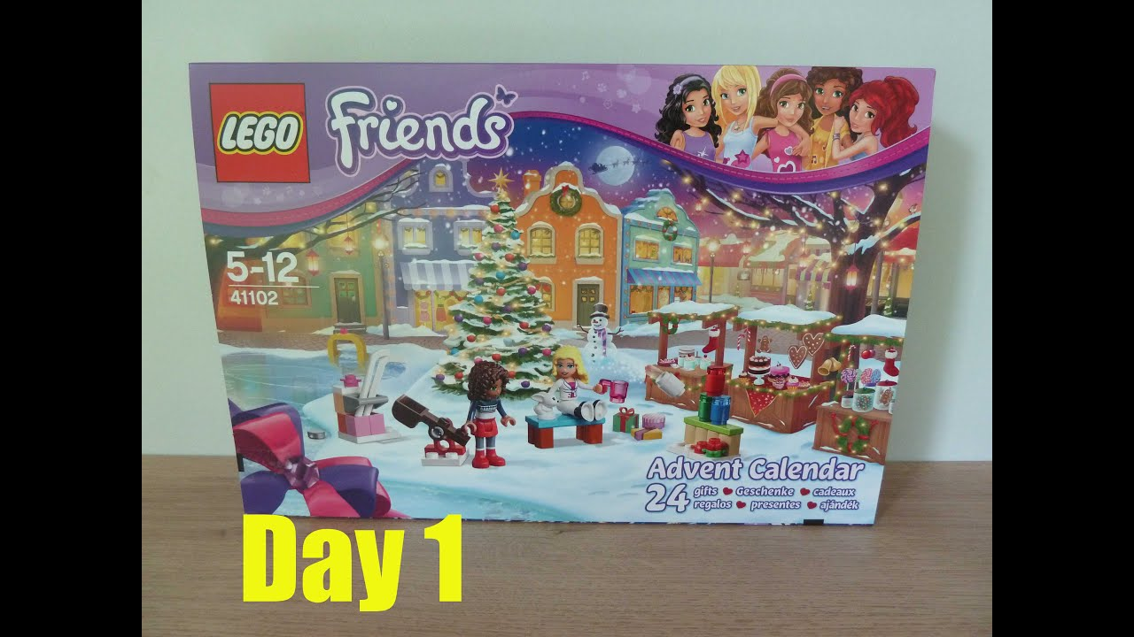 lego friends advent calendar 2015 day 1 lego 41102 youtube. Black Bedroom Furniture Sets. Home Design Ideas