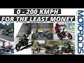 Ten 200 Km/h Bikes for the Least Amount of Money in India