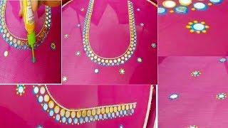 మీblouseకి మగ్గం అవసరంలేకుండా 3d cone outlinerతో designer blousతయారుచేసుకోండి/hand embroidery/aari
