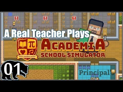 A Real Teacher Plays Academia : School Simulator [E01] Sapientia et Conscientia