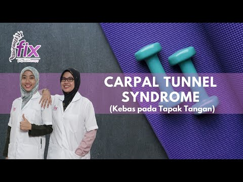 Kesemutan Pada Tangan / Exercise Carpal Tunnel Syndrome / Kinesio taping CTS.